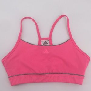 Adidas Pink Sports Bra Racerback Sz Small